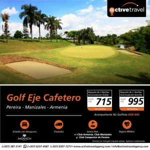 Golf Eje Cafetero - Active Travel Agency