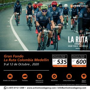 Gran Fondo La Ruta Colombia Medellín 2020 - Active Travel Agency