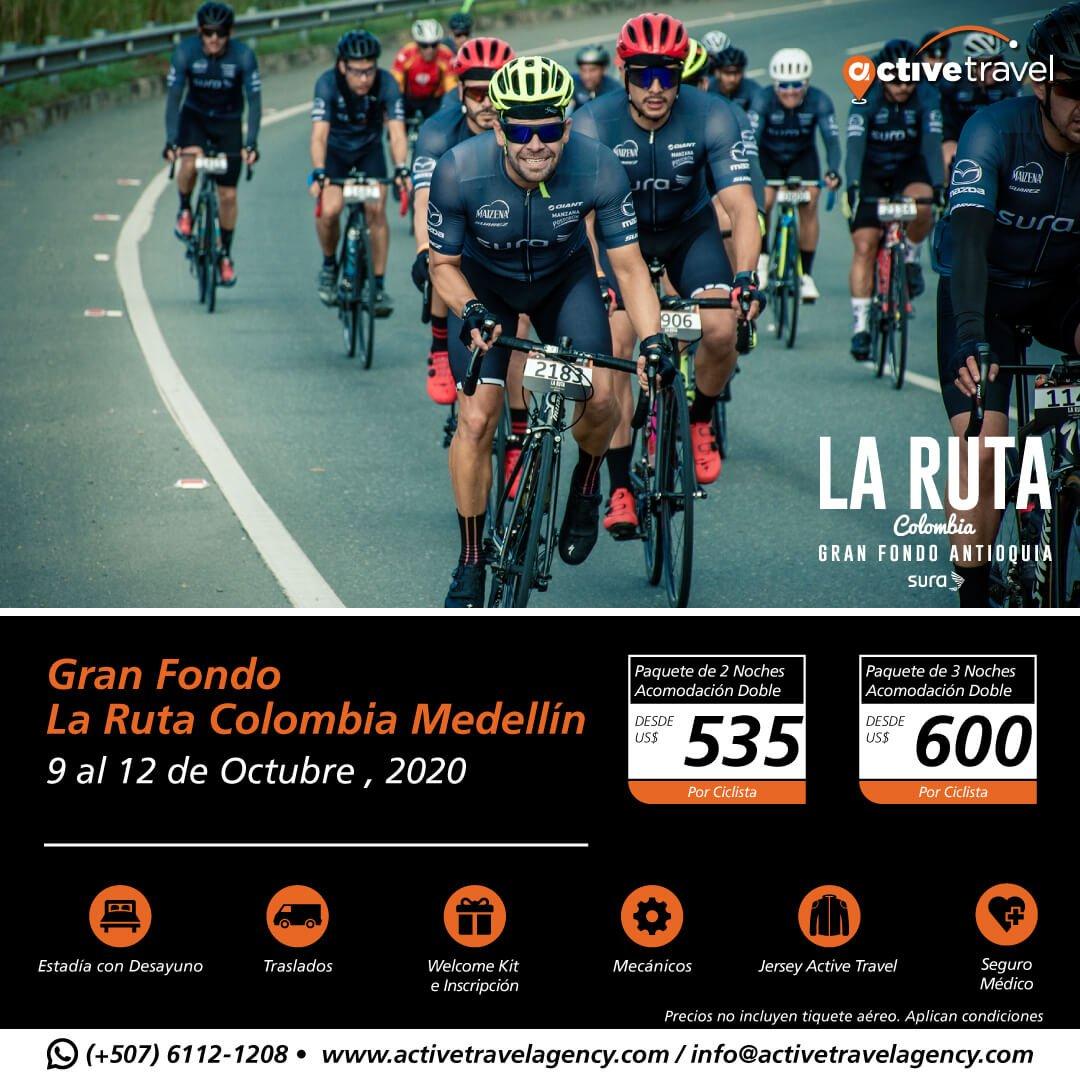 Gran Fondo La Ruta Colombia Medellín 2020 - Active Travel Agency