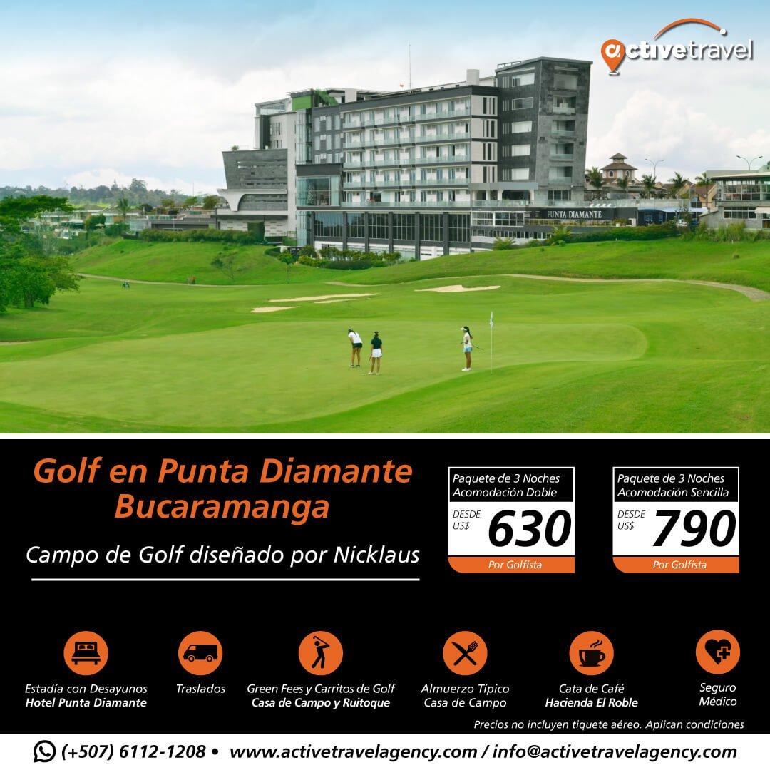 Golf en Bucaramanga - Active Travel Agency