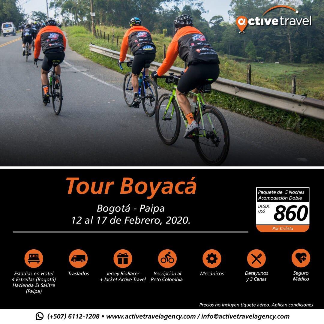 Tour Boyacá 2020 - Active Travel Agency