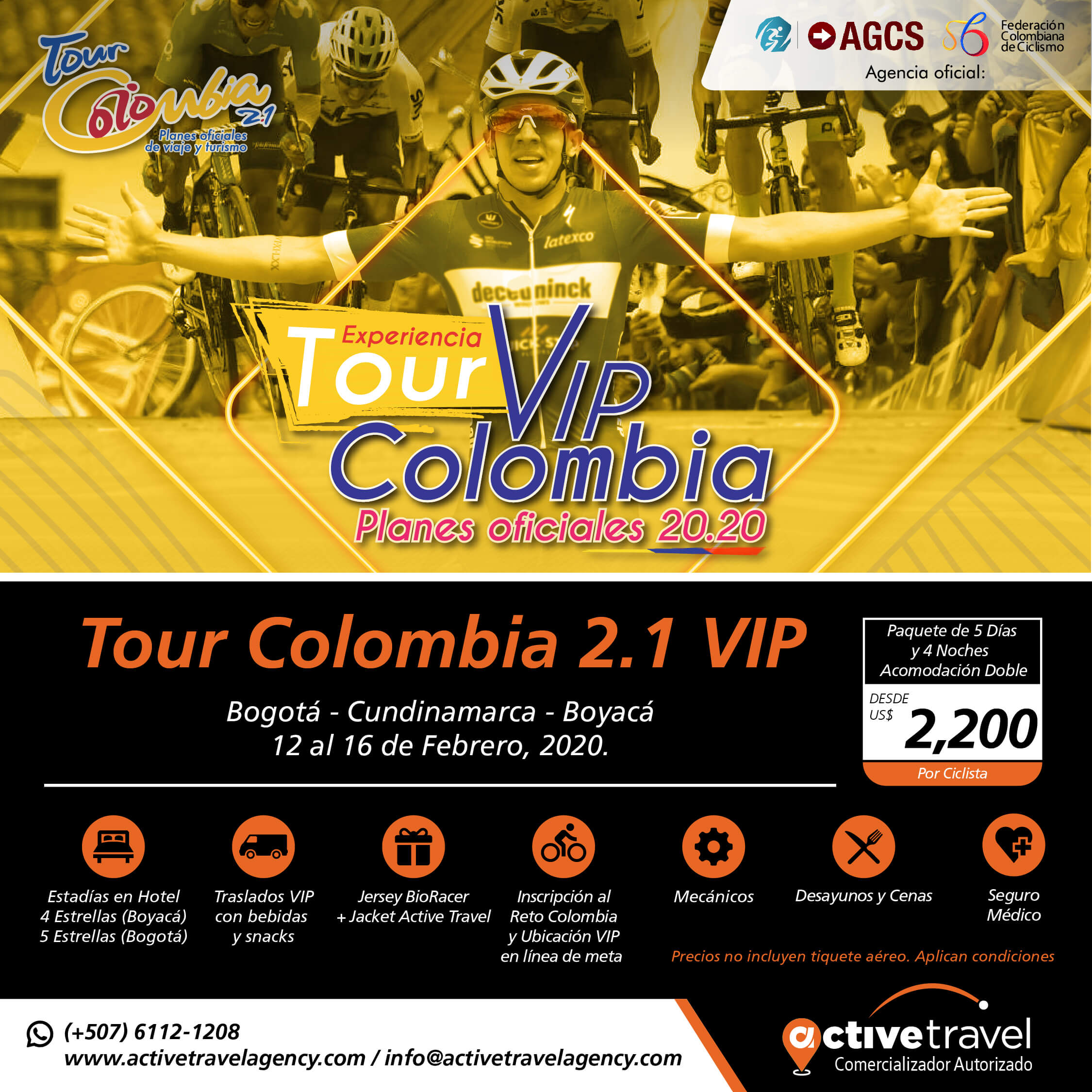 Tour Colombia 2.1 VIP - Active Travel Agency
