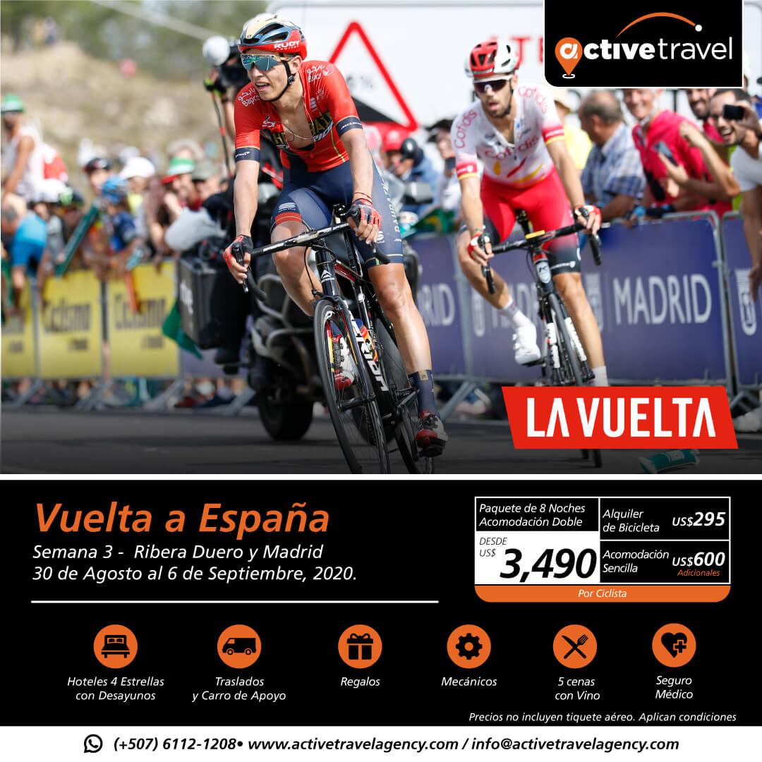 Vuelta a España 2020 / Última semana – Galicia, Portugal y Madrid - Active Travel Agency