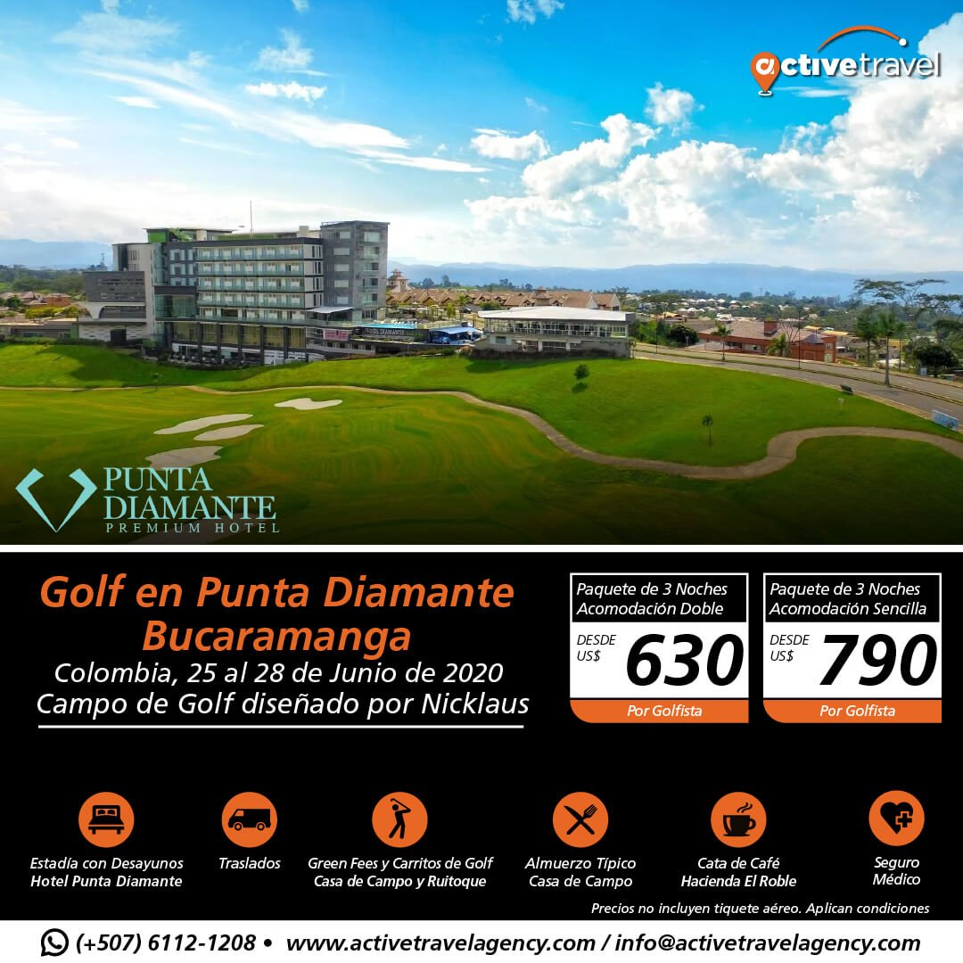 Golf en Punta Diamante Bucaramanga - Active Travel Agency