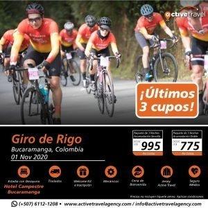 Gran Fondo Giro de Rigo 2020 Hotel BGA Club Campestre - Últimos 3 Cupos - Active Travel Agency